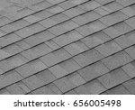 asphalt tile roof texture... | Shutterstock . vector #656005498