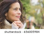 middle aged nice lady with... | Shutterstock . vector #656005984