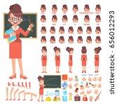 female  teacher character... | Shutterstock .eps vector #656012293