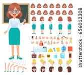 female teacher character... | Shutterstock .eps vector #656012308