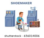 cobbler cartoon character... | Shutterstock .eps vector #656014006