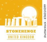 stonehenge icon isolated on... | Shutterstock .eps vector #656014399