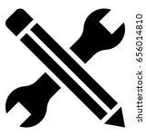 technical service glyph vector... | Shutterstock .eps vector #656014810