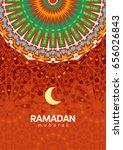 ramadan mubarak beautiful... | Shutterstock . vector #656026843