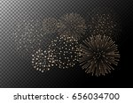 fireworks isolated on... | Shutterstock .eps vector #656034700