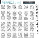 network technology outline... | Shutterstock .eps vector #656038558