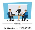business people having board... | Shutterstock .eps vector #656038573