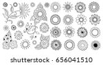 hand drawn flowers | Shutterstock .eps vector #656041510