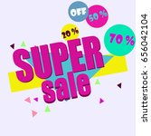 vector abstract sale poster in... | Shutterstock .eps vector #656042104