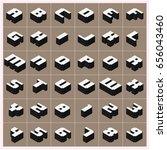 vector a z alphabet gray text... | Shutterstock .eps vector #656043460