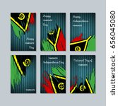 vanuatu patriotic cards for... | Shutterstock .eps vector #656045080