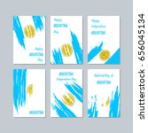 argentina patriotic cards for... | Shutterstock .eps vector #656045134