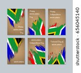 south africa patriotic cards... | Shutterstock .eps vector #656045140