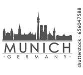 munich silhouette skyline stamp ... | Shutterstock .eps vector #656047588