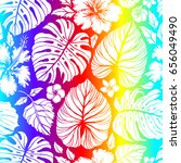aloha hawaiian shirt seamless... | Shutterstock .eps vector #656049490