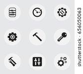 set of 9 editable tool icons....