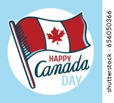 canadian flag and inscription  ... | Shutterstock .eps vector #656050366