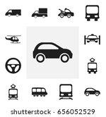 set of 12 editable transport... | Shutterstock .eps vector #656052529