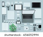 modern office workplace with... | Shutterstock . vector #656052994