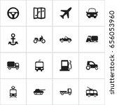set of 16 editable shipment... | Shutterstock .eps vector #656053960