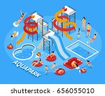 water park and swimming with... | Shutterstock .eps vector #656055010