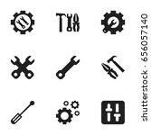 set of 9 editable mechanic... | Shutterstock .eps vector #656057140