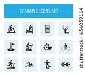 set of 12 editable active icons.... | Shutterstock .eps vector #656059114
