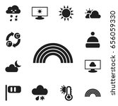 set of 12 editable climate...