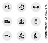 set of 9 editable sport icons....