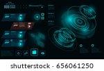 futuristic virtual graphic... | Shutterstock .eps vector #656061250