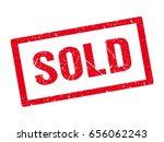 Grunge Sold Rubber Stamp....