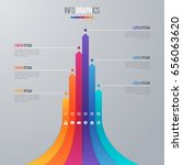 bar chart infographic template... | Shutterstock .eps vector #656063620