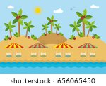 palm tree. summer beach holiday ... | Shutterstock .eps vector #656065450