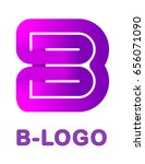 abstract letter b   creative...   Shutterstock .eps vector #656071090