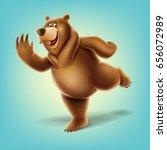 bear cartoon | Shutterstock .eps vector #656072989