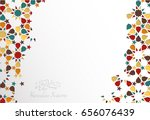 islamic design greeting card... | Shutterstock .eps vector #656076439