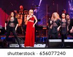 Small photo of BROOKLYN, NY - JUNE 03: Singer Valeria perform on stage during the Viktor Drobysh 50th year birthday concert at Barclay Center on June 03, 2017 in Brooklyn NY.