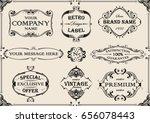 vintage collection frame design   Shutterstock .eps vector #656078443