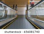 Escalator In Community Mall ...