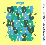 graffiti font vector | Shutterstock .eps vector #656082190