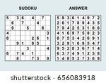 vector sudoku with answer 57.... | Shutterstock .eps vector #656083918