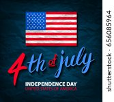 fourth of july usa independence ... | Shutterstock .eps vector #656085964
