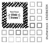 ethnic patterns or frames.... | Shutterstock .eps vector #656086504