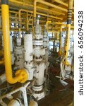 Small photo of x-mass tree, Control valve for oil and gas production process, Petroleum construction on offshore wellhead platform, Energy and petroleum industry, Oil and gas or petroleum is major of world