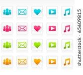 set of social media icons. | Shutterstock .eps vector #65609815