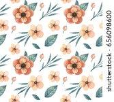 watercolor seamless pattern... | Shutterstock . vector #656098600
