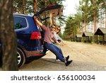 summer car trip    Shutterstock . vector #656100034