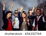 celebrating new year with... | Shutterstock . vector #656102764