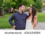 college graduates together on... | Shutterstock . vector #656104084