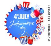 4th july   independence day of...   Shutterstock .eps vector #656104654